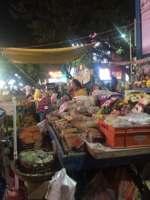 Scène de rue en Inde